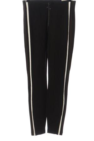 Zara Trafaluc Leggings schwarz Streifenmuster Casual-Look
