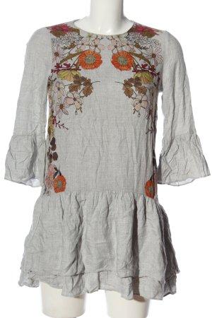 Zara Trafaluc Long-Bluse Allover-Druck Casual-Look