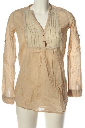 Zara Trafaluc Long-Bluse creme Casual-Look