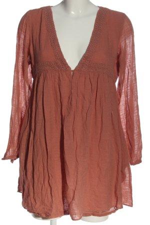 Zara Trafaluc Long-Bluse rot Casual-Look