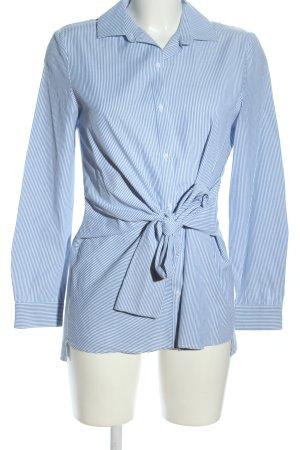 Zara Trafaluc Long-Bluse blau Allover-Druck Business-Look
