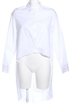 Zara Trafaluc Long-Bluse weiß Business-Look