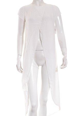 Zara Trafaluc Long-Bluse weiß Street-Fashion-Look