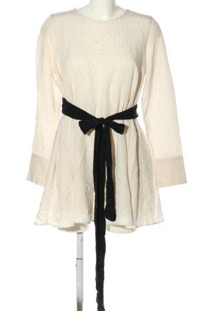 Zara Trafaluc Blouse longue blanc cassé-noir tissu mixte