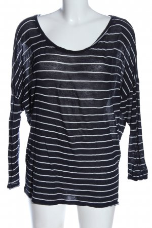 Zara Trafaluc Longsleeve blau-weiß Streifenmuster Casual-Look