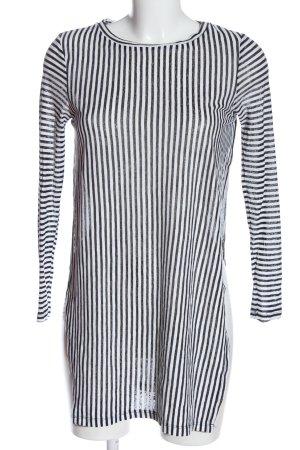 Zara Trafaluc Longsleeve schwarz-weiß Allover-Druck Casual-Look