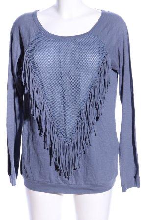 Zara Trafaluc Longsleeve blau Casual-Look