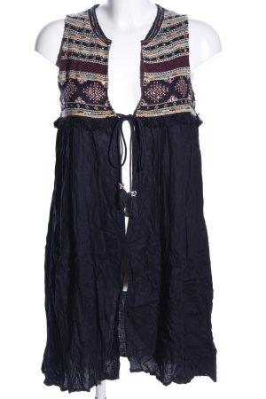 Zara Trafaluc Cardigan lungo smanicato motivo grafico stile casual