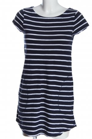 Zara Trafaluc Longshirt blau-weiß Allover-Druck Casual-Look
