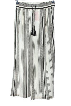 Zara Trafaluc Spodnie Marlena czarny-biały Na całej powierzchni W stylu casual