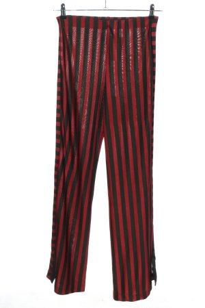 Zara Trafaluc Marlene Trousers red-black striped pattern casual look