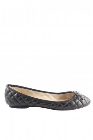 Zara Trafaluc Mary Jane Ballerinas black quilting pattern casual look
