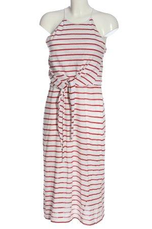 Zara Trafaluc Sommerkleid weiß-rot Streifenmuster Casual-Look
