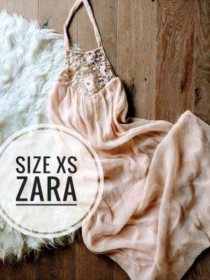 Zara Trafaluc Maxi abito rosa antico-rosa pallido