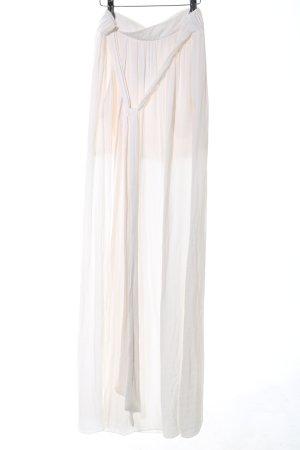 Zara Trafaluc Maxi rok wit casual uitstraling