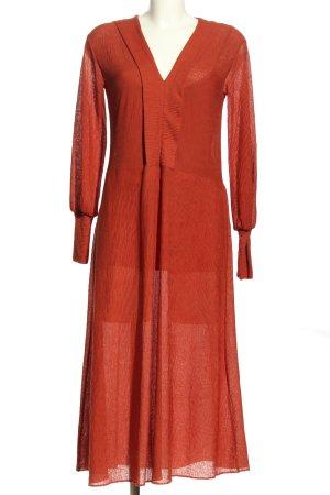 Zara Trafaluc Vestido a media pierna rojo look casual