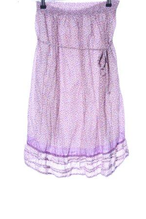 Zara Trafaluc Spódnica midi fiolet-kremowy Na całej powierzchni W stylu casual