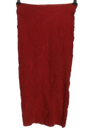Zara Trafaluc Spódnica midi czerwony Warkoczowy wzór W stylu casual