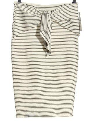 Zara Trafaluc Spódnica midi biały-czarny Na całej powierzchni W stylu casual