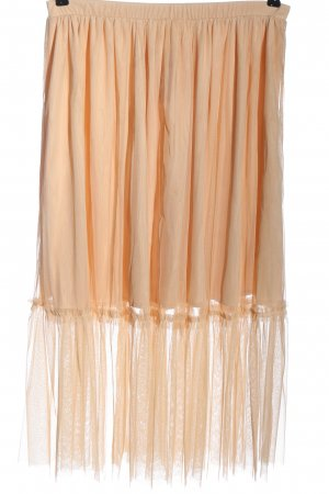 Zara Trafaluc Spódnica midi nude W stylu casual