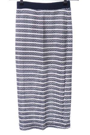 Zara Trafaluc Midirock blau-weiß abstraktes Muster Casual-Look
