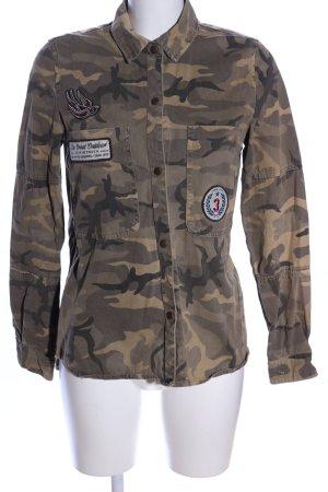 Zara Trafaluc Military Jacket khaki-brown allover print casual look
