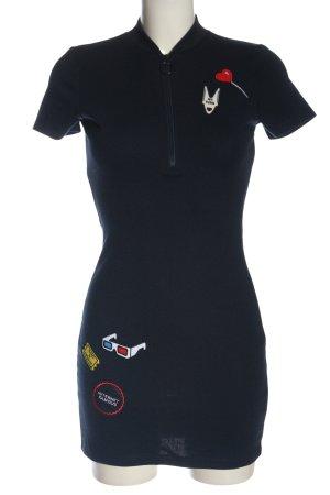 Zara Trafaluc Minikleid blau Motivdruck Casual-Look