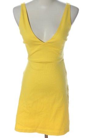 Zara Trafaluc Minikleid blassgelb Casual-Look