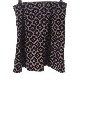 Zara Trafaluc Mini rok lila-zwart volledige print casual uitstraling