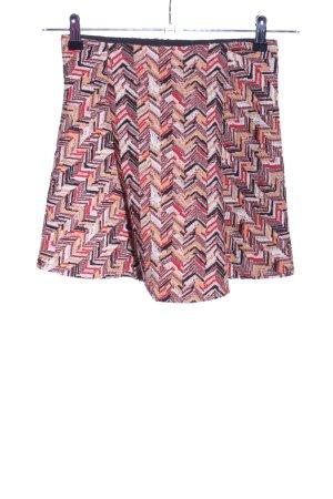 Zara Trafaluc Minirock abstraktes Muster Casual-Look