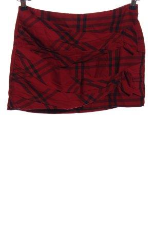 Zara Trafaluc Minirock rot-schwarz Karomuster Casual-Look