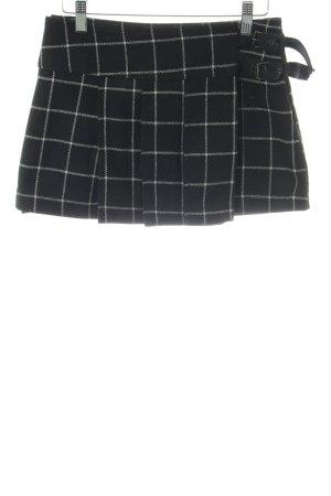 Zara Trafaluc Mini rok zwart-wit geruite print casual uitstraling