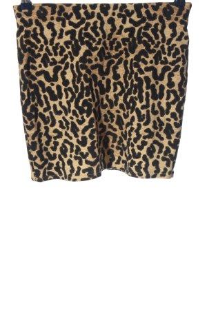 Zara Trafaluc Mini rok bruin-zwart luipaardprint extravagante stijl