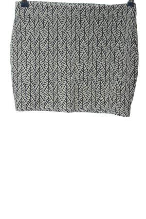 Zara Trafaluc Mini rok wit-zwart volledige print casual uitstraling