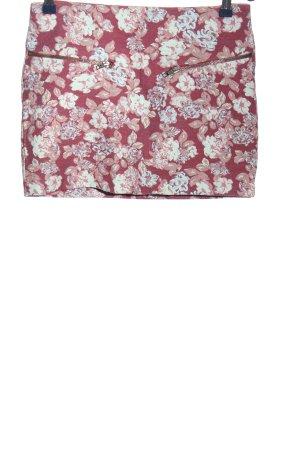 Zara Trafaluc Minirock pink-wollweiß Allover-Druck Casual-Look