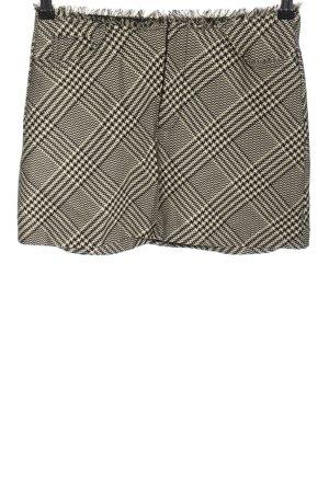 Zara Trafaluc Minirock schwarz-weiß grafisches Muster Business-Look