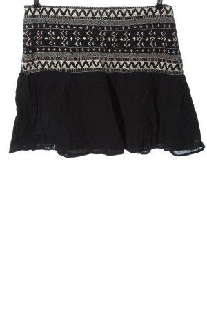 Zara Trafaluc Mini rok zwart grafisch patroon casual uitstraling