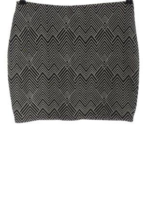 Zara Trafaluc Mini rok zwart-wolwit volledige print casual uitstraling