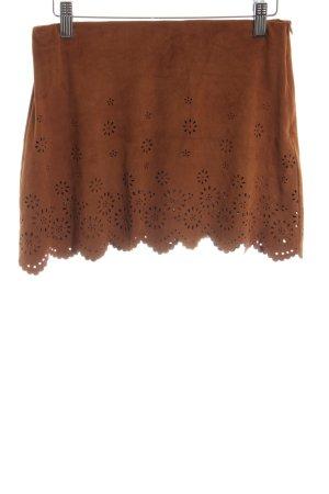 Zara Trafaluc Minirock braun schlichter Stil