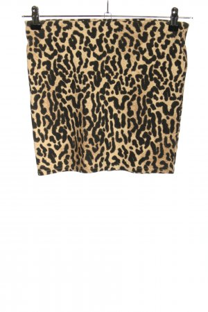 Zara Trafaluc Minifalda crema-negro estampado repetido sobre toda la superficie