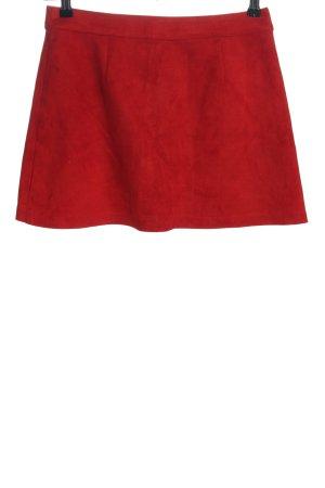 Zara Trafaluc Mini rok rood casual uitstraling