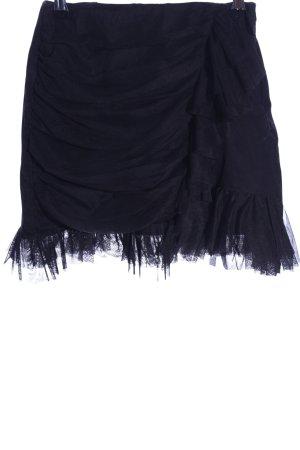 Zara Trafaluc Mini rok zwart casual uitstraling