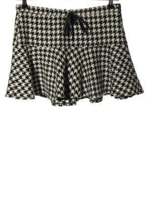Zara Trafaluc Minirock schwarz-weiß abstraktes Muster Casual-Look