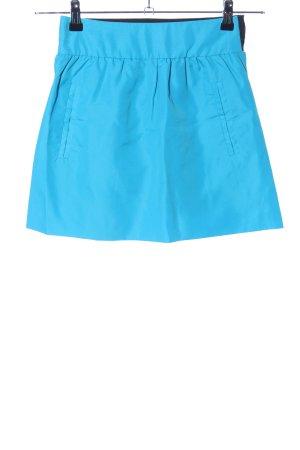 Zara Trafaluc Mini rok blauw-zwart casual uitstraling