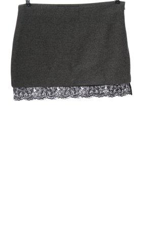 Zara Trafaluc Mini rok lichtgrijs gestippeld elegant