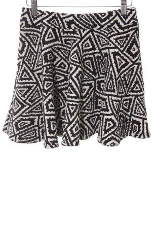 Zara Trafaluc Minirock schwarz-weiß abstraktes Muster extravaganter Stil