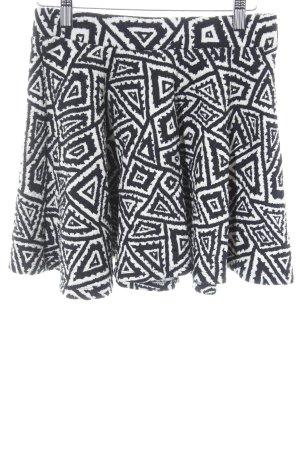 Zara Trafaluc Mini rok zwart-wit abstract patroon straat-mode uitstraling