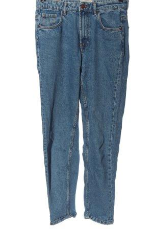 Zara Trafaluc Mom-Jeans blau Casual-Look