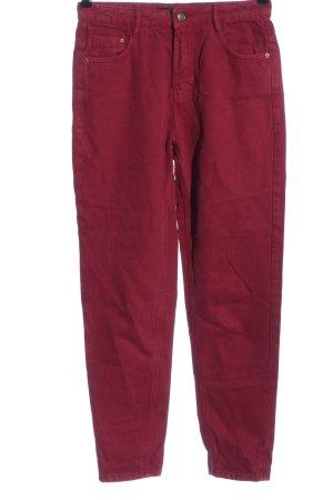 Zara Trafaluc Mom-Jeans rot Casual-Look
