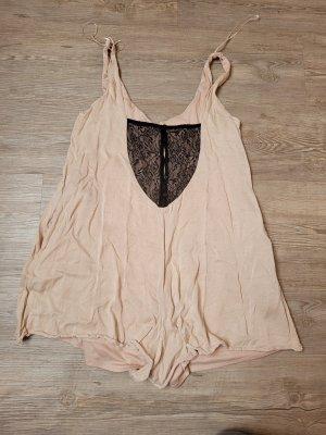 Zara trafaluc Nachthemd Jumpsuit Rose Creme schwarz M